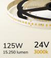 "Striscia LED 2835 ""PRO"" - 24V - 5 Metri - 125W - SMD2835 168 LED/m - Bianco CALDO - 3000K"
