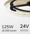 """Striscia LED 2835 """"PRO"""" - 24V - 5 Metri - 125W - SMD2835 168 LED/m - Bianco NATURALE - 4000K"""