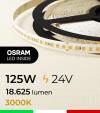 "Striscia LED 2835 ""PRO"" - 24V - 5 Metri - 125W - SMD2835 Osram - 176 LED/m - Bianco CALDO - 3000K"