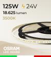 "Striscia LED 2835 ""PRO"" - 24V - 5 Metri - 125W - SMD2835 Osram - 176 LED/m - Bianco CALDO - 3500K"