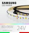 "Striscia LED RGBW  ""DYNAMIC RGBW"" - 5 Metri - 176W - 140 LED/m - SMD3535 Broadcom e SMD2835 Samsung CRI90 - RGB + Bianco Naturale 4000K"