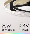 "Striscia LED RGB ""DYNAMIC RGB"" - 5 Metri - 75W - 60 LED/m SMD3535 Epistar"