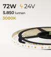 "Striscia LED ""ECO"" - 5 Metri - 72W - 300 LED SMD 5050 BIANCO CALDO"