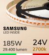 "Striscia LED 5630  ""H-POWER"" - 5 Metri - 185W -  140 LED/m SMD5630 Samsung - CRI90 - 2700K LUCE CALDA"