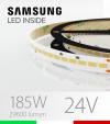 "Striscia LED 5630  ""H-POWER"" - 5 Metri - 185W -  140 LED/m SMD5630 Samsung - CRI90 - Bianco NATURALE 4000K"