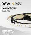 """Striscia LED 5630 """"PRO"""" - 5 Metri - 96W - 300 SMD5630 SAMSUNG - per Cornici Eleni"""