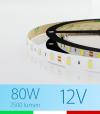 "Striscia LED ""ECO"" - 5 Metri - 80W - 300 LED SMD5630 BIANCO FREDDO"