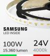 "Striscia LED ""ZENITH"" - 5 Metri - 100W -  98 LED/m SMD5630 SAMSUNG - CRI90 - Bianco NATURALE 4000K"