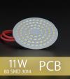 Scheda PCB 80 LED SMD 3014 - Bianco Caldo
