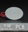 Scheda PCB 80 LED SMD 3014 - Bianco Naturale