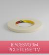 Biadesivo Polietilene 3M Acrilico Colore Bianco - Rotolo da 11m
