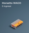 Morsetto WAGO 221-415 a cinque slot - Collegamenti in parallelo