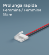 Prolunga Rapida Strisce LED 15cm - Connettori Femmina-Femmina