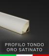 Profilo in alluminio angolare 45° Design Tondo per Strisce LED -  Oro Satinato