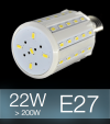 Lampadina LED CORN 22W E27 (200W) -  Bianco FREDDO