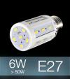 Lampadina LED CORN 6W E27 (60W) -  Bianco Freddo