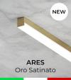 """Profilo Piatto in Alluminio """"Ares"""" per Strisce LED - Oro Satinato"""
