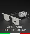 """Accessori per Profili in Alluminio da Incasso """"Aura"""""""