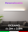 Lampada LED da parete Oceano - Da 200cm a 250cm - Personalizzabile - Dimmerabile - 24V