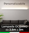 Lampada LED da parete Oceano - Da 250cm a 300cm - Personalizzabile - Dimmerabile - 24V