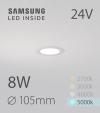 Faretto da Incasso Rotondo Slim 8W BIANCO FREDDO - Downlight - LED Samsung