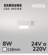 Plafoniera LED Quadrata 8W BIANCO NATURALE - LED Samsung