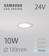 Faretto da Incasso Rotondo Slim 10W BIANCO FREDDO - Downlight - LED Samsung