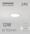 Faretto da Incasso Rotondo Slim 12W BIANCO NATURALE - Downlight - LED Samsung