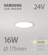 Faretto da Incasso Rotondo Slim 16W BIANCO CALDO - Downlight - LED Samsung