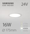 Faretto da Incasso Rotondo Slim 16W BIANCO NATURALE - Downlight - LED Samsung