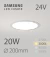 Faretto da Incasso Rotondo Slim 20W BIANCO CALDO - Downlight - LED Samsung