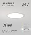 Faretto da Incasso Rotondo Slim 20W BIANCO NATURALE - Downlight - LED Samsung