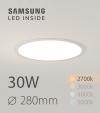 Faretto da Incasso Rotondo Slim 30W LUCE CALDA - Downlight - LED Samsung