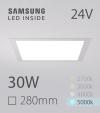 Faretto da Incasso Quadrato Slim 30W BIANCO FREDDO - Downlight - LED Samsung