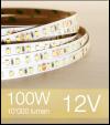 "Striscia LED 2835 ""ECO"" - 5 Metri - 100W - SMD2835 BIANCO CALDO 120 LED/m"