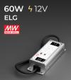 Alimentatore Meanwell ELG-75-12 12V 60W Resistente all'acqua, Versione Standard, A, B e DALI