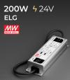 Alimentatore Meanwell ELG-200-24 24V 200W Resistente all'acqua, Versione Standard, A, B e DALI