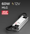 Alimentatore Meanwell HLG-80H-12 12V 60W  Resistente all'acqua - Versione Standard, A e B