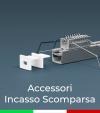 Accessori per Profilo in Alluminio da Incasso a Scomparsa - Clip a molla, Tappi e Accoppiatori