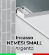 """Profilo in Alluminio da Incasso nel cartongesso """"Nemesi Small"""" - Anodizzato Argento"""