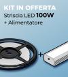 Kit Striscia LED ECO 2835 120led/m 100W + Alimentatore