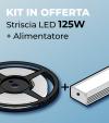 KIT Striscia LED PRO SMD2835 120led/m 125W + Alimentatore