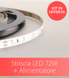 Kit Striscia LED ECO 2835 60led/m 72W + Alimentatore