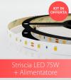 KIT Striscia LED PRO SMD2835 60led/m 75W + Alimentatore