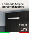 Lampada LED da sospensione Selene - Doppia Emissione di Luce - Fino a 100cm - Personalizzabile - Dimmerabile