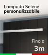 Lampada LED da Sospensione Selene - Doppia Emissione di Luce - Da 250cm a 300cm - Personalizzabile - Dimmerabile