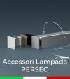 """Accessori per Profilo in Alluminio da Sospensione """"Perseo"""" 37x37mm"""