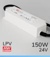 Alimentatore Meanwell LPV-150-24 24V 150W  Resistente all'acqua