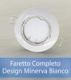 Faretto completo Bianco con PCB SAMSUNG 9W - Design MINERVA - Dimmerabile - Made In Italy