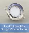 Faretto completo Satinato con PCB SAMSUNG 9W - Design MINERVA - Dimmerabile - Made In Italy